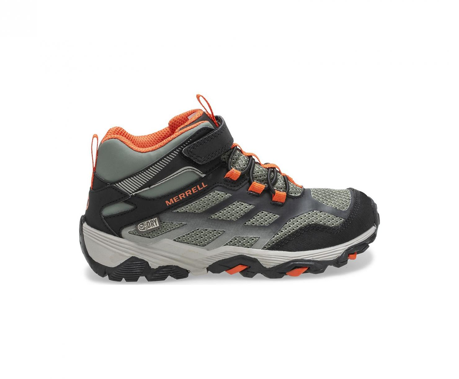 Merrell Mädchen/Jungs Stiefel | Moab FST Mid A/C Waterproof Boot Olive/Black